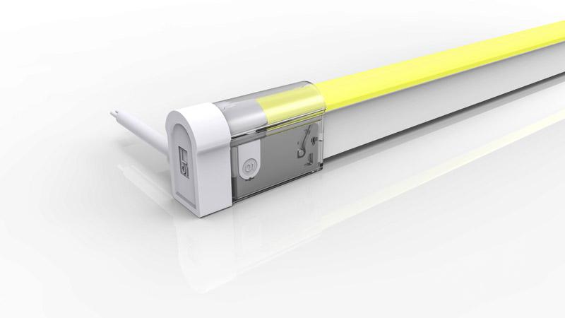 Connecteur latéral droit pour néon LED BULBE de la gamme PREMIUM de LumiPop