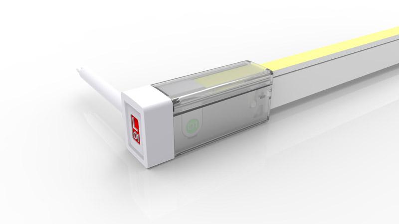 Connecteur latéral droit pour néon LED SLIM de la gamme PREMIUM LumiPop