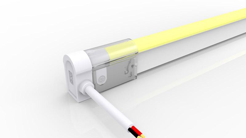 Connecteur latéral gauche pour néon LED BULBE de la gamme PREMIUM de LumiPop