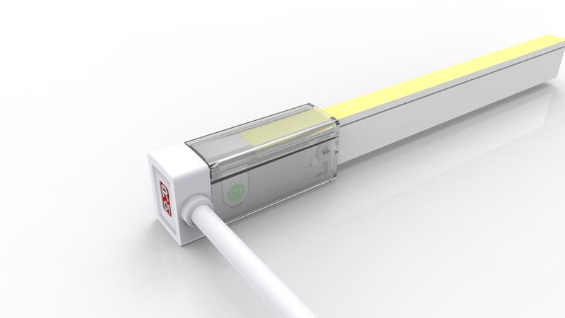 Connecteur latéral gauche pour néon LED SLIM de la gamme PREMIUM LumiPop