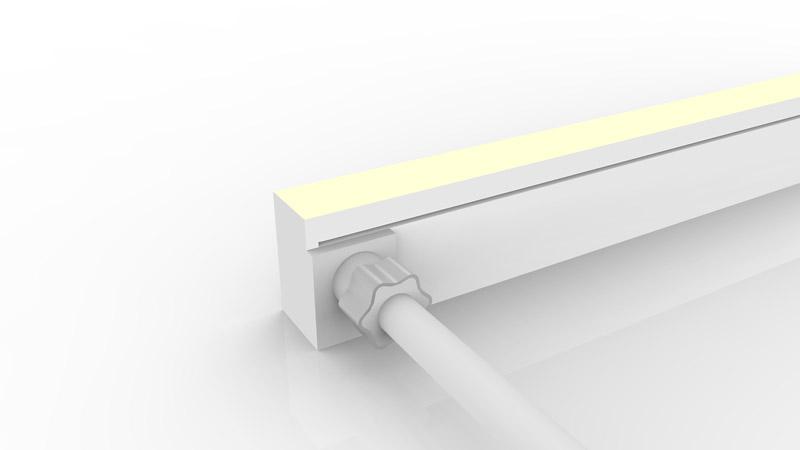 Connecteur latéral moulé IP67 pour néon LED SLIM