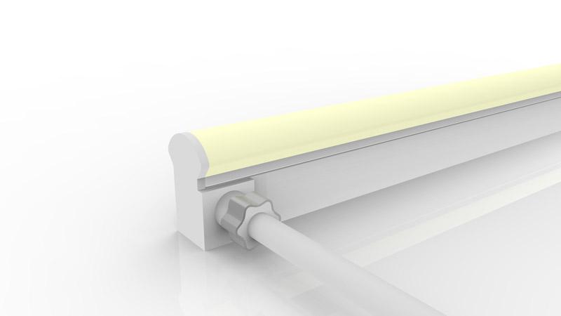 Connecteur latéral moulé IP67 pour néon LED BULBE et DOME RGB