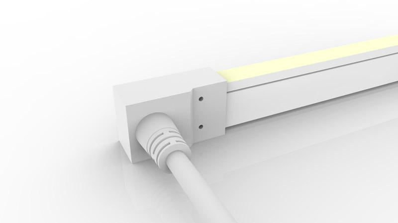 Connecteur latéral moulé IP68 pour néon LED SLIM
