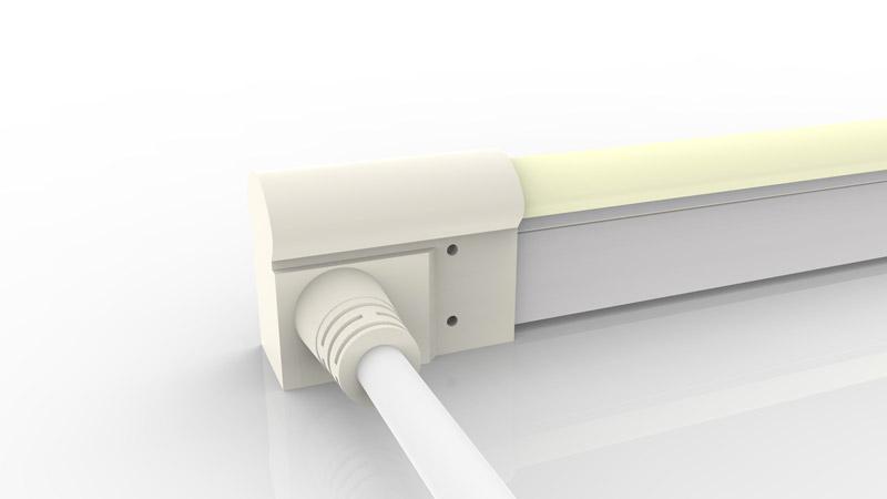 Connecteur latéral moulé IP68 pour néon LED BULBE et DOME