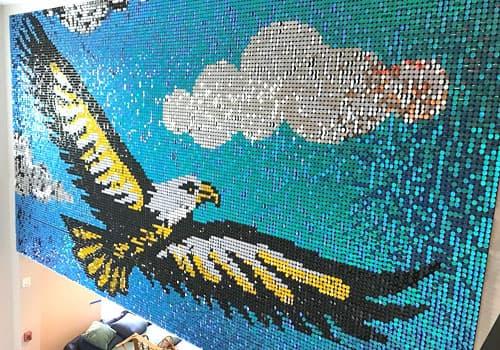 Mur à paillette aigle. Glitter wall