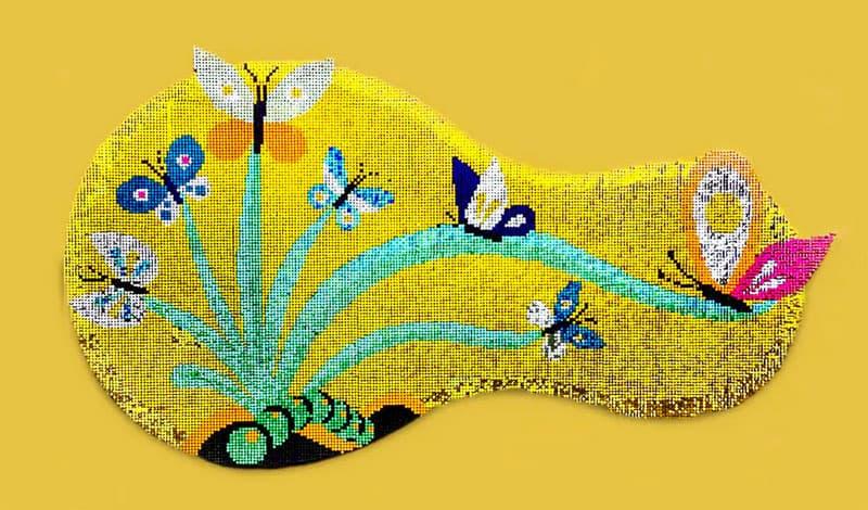 Tableau avec motif créé en sequin