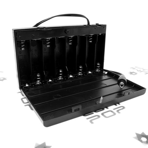 Boitier support piles 12 volts pour LED
