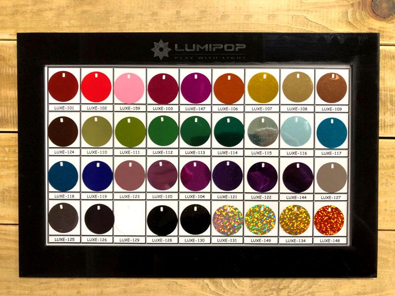 Liste des couleurs de l'EcoSign pour l'intérieur volet 1